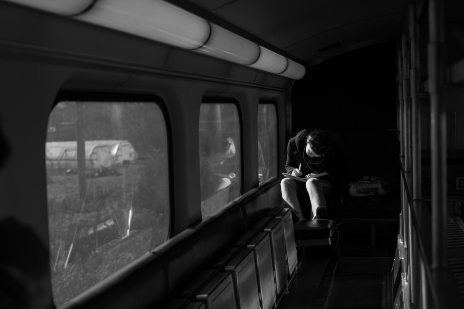 woman on the train